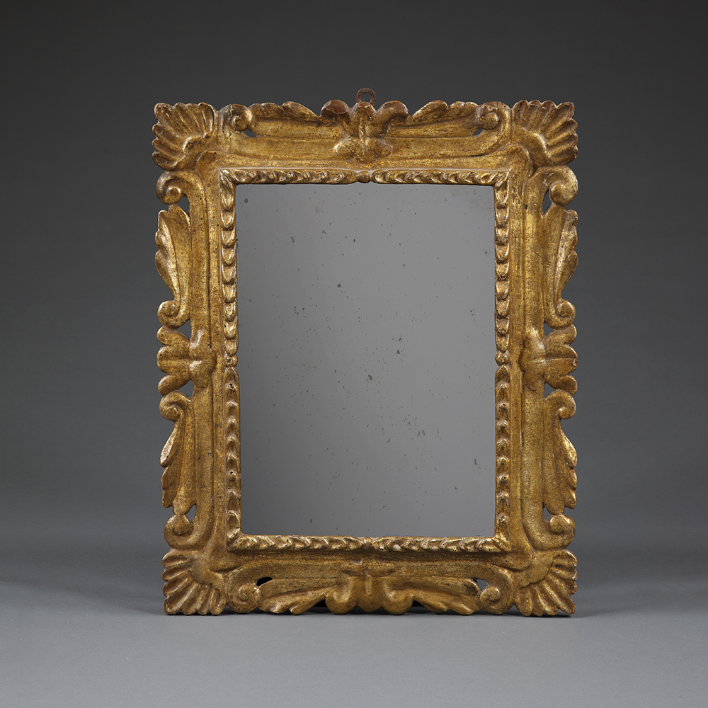 An early 17th century spanish giltwood mirror frame for 17th century mirrors