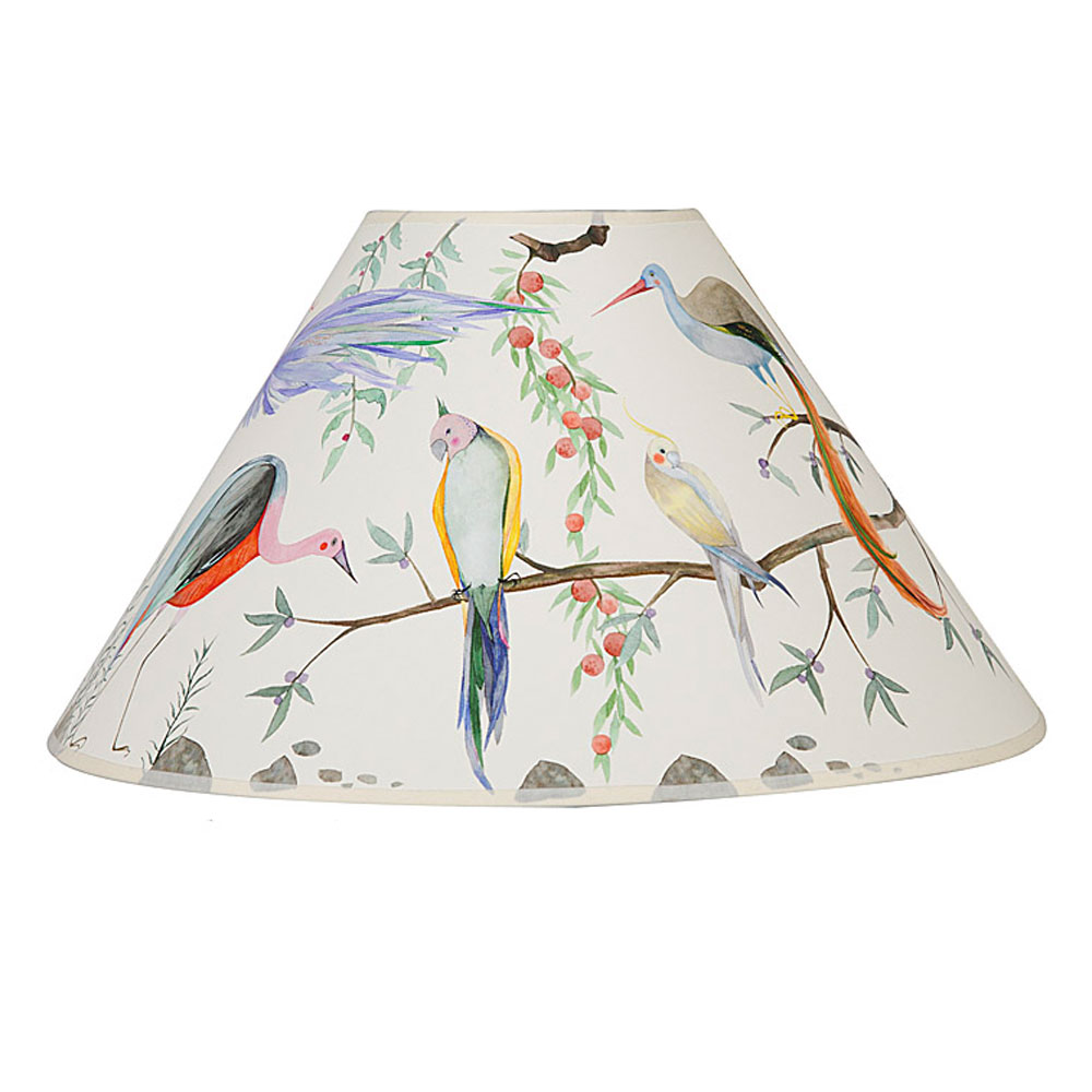 Exotic bird painted lampshade view larger mozeypictures Choice Image