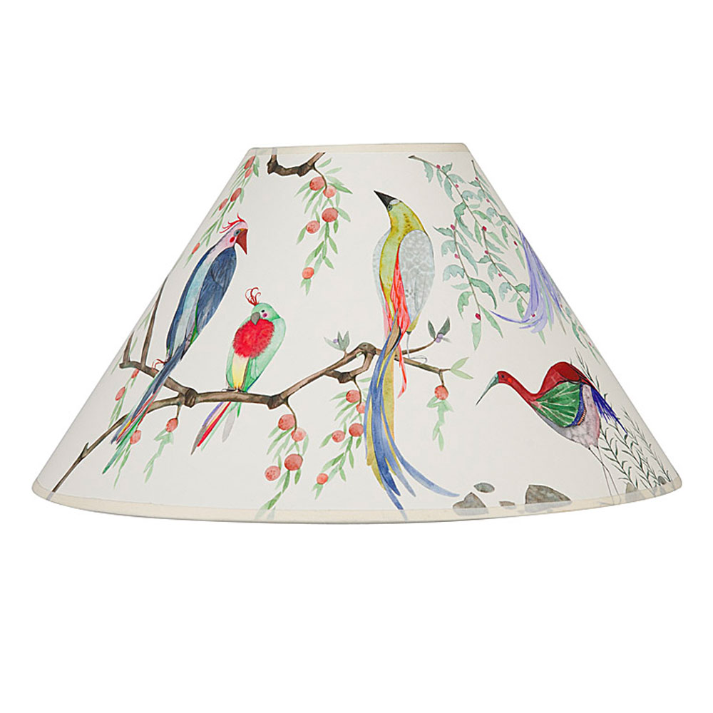 Exotic bird painted lampshade mozeypictures Choice Image